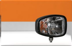 Heavy duty E approved head lamp