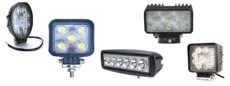 Light duty work lamps